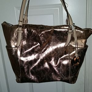 Authentic Rose Gold Michael Kors Bag